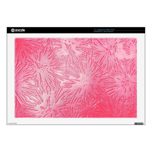 Retro pink salmon linoleum plastic pattern art skins for laptops