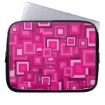 Retro Pink Squares Pattern
