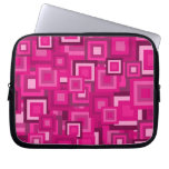 Retro Pink Squares Pattern Computer Sleeve