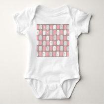 Retro Pink Starbursts Baby Bodysuit