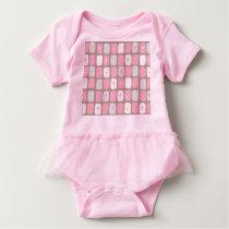 Retro Pink Starbursts Baby Tutu Bodysuit