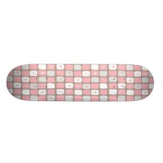 Retro Pink Starbursts Skateboard
