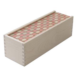 Retro Pink Starbursts Wooden Wine Box