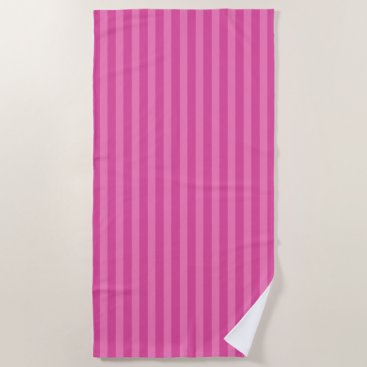 Beach Themed Retro Pink Striped Beach Pool Towel Vacation Gift