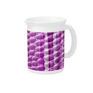 Retro pink stripes art graphic design pitcher