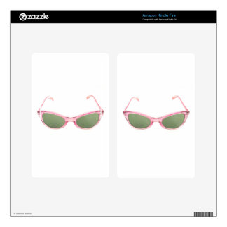Retro Pink Sunglasses Kindle Fire Decals