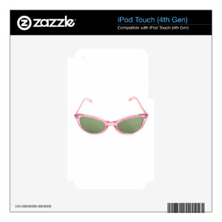 Retro Pink Sunglasses Skin For iPod Touch 4G
