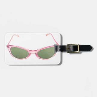 Retro Pink Sunglasses Tag For Luggage