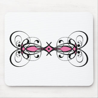 Retro Pink Tribal Art I Mouse Pad