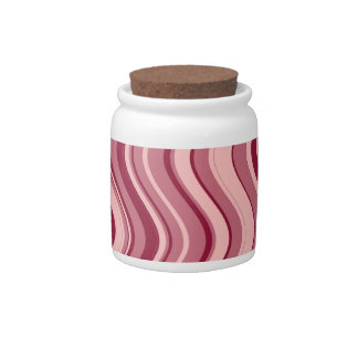 Retro Pink Wave Abstract Pattern Candy Jars