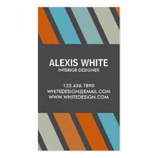 Retro Pinstripe - Style 5 Double-Sided Standard Business Cards (Pack Of 100)