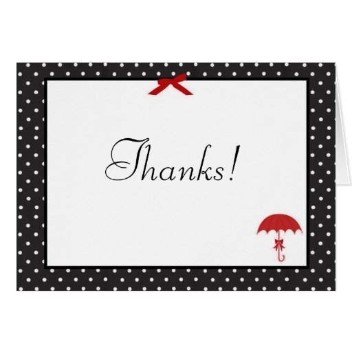 Retro Pinup Baby Shower Thank You Cards