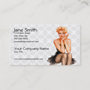 Pinup business cards templates zazzle retro pinup business card colourmoves