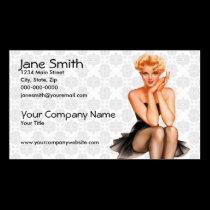 Retro Pinup Business Card
