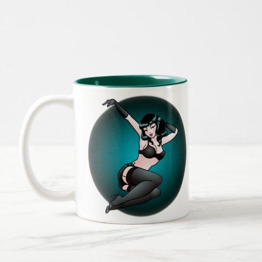 Retro Pinup Coffee Cup Vintage Pinup Girl Mug