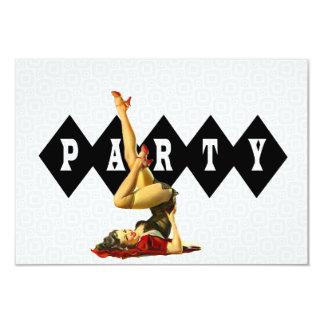 Retro Pinup Girl Birthday Party V2 Card