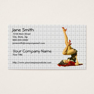 Retro Pinup Girl Business Card