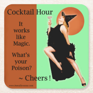 Retro Pinup Girl Style Halloween Beverage Coaster