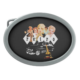 Retro Pinup Girls and a Hot Rod Belt Buckle