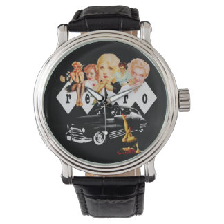 Retro Pinup Girls and a Hot Rod Watch