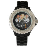 Retro Pinup Girls and a Hot Rod Wrist Watches