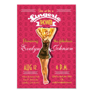 Retro Pinup Lingerie Bachelorette Party Invitation