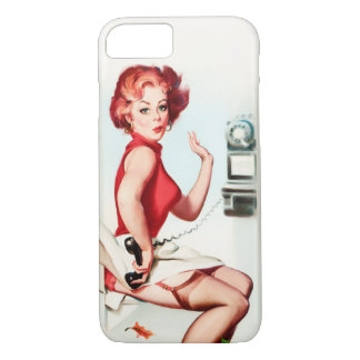 Retro Pinup on a Telephone iPhone 8/7 Case