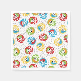 Retro Pirate Skulls Paper Napkin