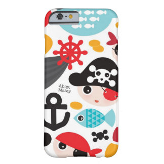 Retro pirates illustration sailing barely there iPhone 6 case