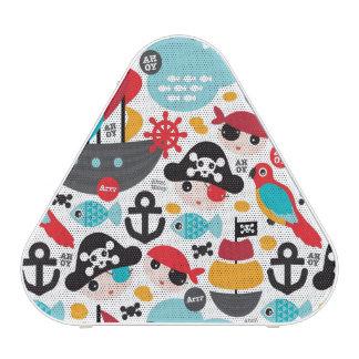 Retro pirates illustration sailing bluetooth speaker