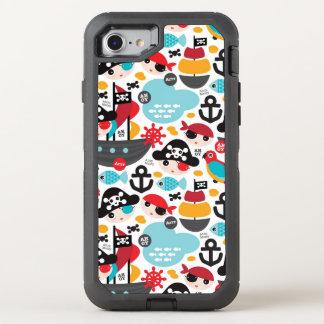 Retro pirates illustration sailing OtterBox defender iPhone 8/7 case