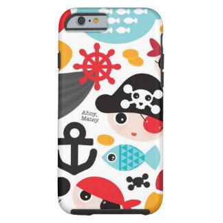 Retro pirates illustration sailing tough iPhone 6 case