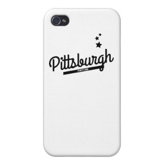 Retro Pittsburgh Logo Cover For iPhone 4