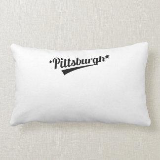 Retro Pittsburgh Logo Throw Pillows