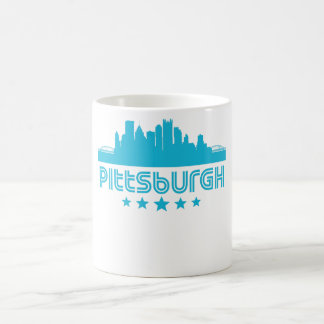 Retro Pittsburgh Skyline Coffee Mug