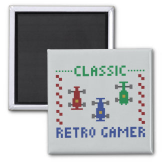 Retro Pixel Race Magnet