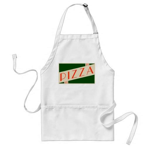 retro pizza apron