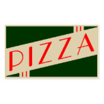 retro pizza Double-Sided standard business cards (Pack of 100)