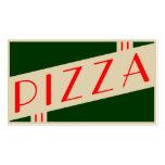 retro pizza business card templates