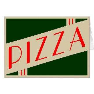 retro pizza card