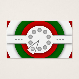 retro PIZZA  loyalty stamp card