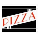 retro pizza postcards