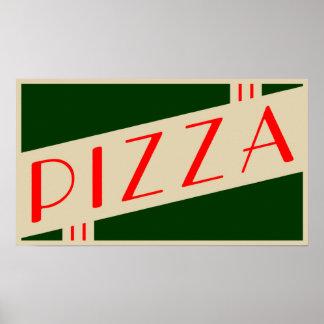 retro pizza print