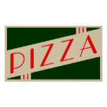 retro pizza print