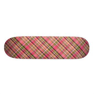 Retro Plaid Design Pattern Skate Decks