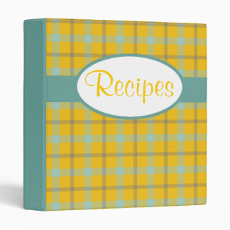 Retro Plaid Pattern Avery Binder