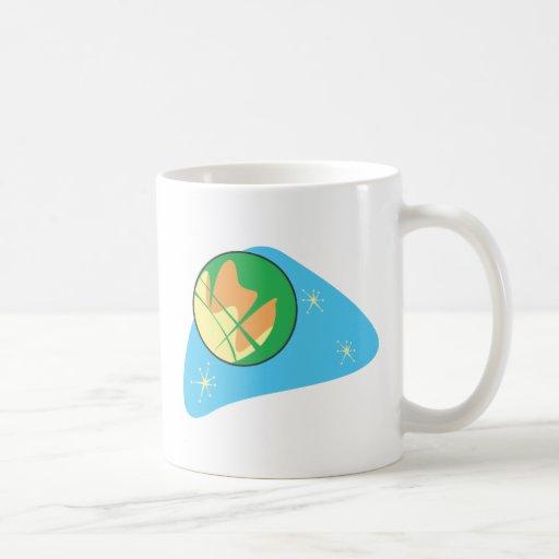 Retro Planet Mars Classic White Coffee Mug