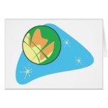 Retro Planet Mars Greeting Card