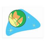 Retro Planet Mars Postcard