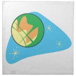 Retro Planet Mars Printed Napkin